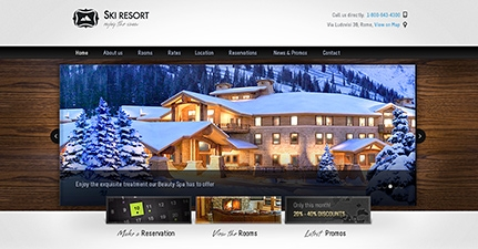 preview ski resort hotel theme